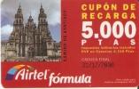 ACR-047 TARJETA CAMINO DE SANTIAGO DE 5000 PTAS CATEDRAL - Airtel