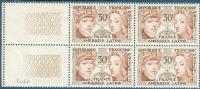 France 1956 - En Bloc De 4 Amitié - France-Amérique Latine - Y&T N°1060 ** Neuf  ( Sans Charnière ) - Unused Stamps