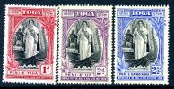 Tonga 1938 Queen Salote Accession Set Of 3, MNH (slight Toning) (A) - Tonga (...-1970)