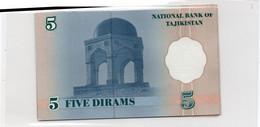 TAJIKISTAN 5 DIRAMS 1999 P 11 UNC - Tagikistan