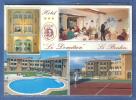 """Carte Postale 66. Le Boulou  Hotel """"Le Domitien""""   Tennis  Piscine Trés Beau Plan - France"""