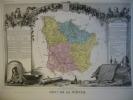 -Levasseur-1866-Carte Géographique Du Département De La Niévre- - Mapas Geográficas
