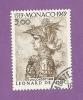 MONACO TIMBRE N° 804 OBLITERE SERIE LEONARD DE VINCI - Monaco