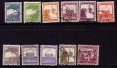 PALESTINE 1927 1942 LOT 11 TIMBRES POSTZEGELS STAMPS USED OMAR MOSQUE RACHEL - Palestine