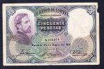 Billet ESPAGNE  Usé - 50 Pesetas