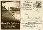 BERLINO OLIMPIADE 1936 DEUTSCHES REICH VMICHEL P 259 - Briefe U. Dokumente