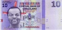 SWAZILAND  10 Emalangeni  Daté Du 06-09-2010     ***** BILLET  NEUF ***** - Swaziland