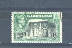 GIBRALTAR  -  1938/52  George VI  1s  FU - Gibraltar