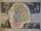 -Levasseur-1866-Carte Géographique Du Département De La Seine Et Marne- - Mapas Geográficas