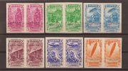 CJBE01-L2054. Maroc Marocco CABO JUBY ESPAÑOL. BENEFICENCIA 1938 (Ed 1/6s**)sin Charnela PAREJAS SIN DENTAR.SUPER LUJO - Cabo Juby
