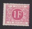 Belgium, Scott #J10, Mint Hinged, Postage Due, Issued 1895 - Postage Due
