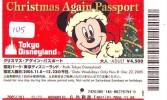 Disney Passeport Entreecard JAPON * TOKYO DISNEYLAND *  Passport (1015)  JAPAN * CHRISTMAS * NOEL * 2005 - Disney
