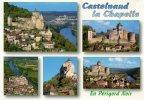 CP - CASTELNAUD LA CHAPELLE - EN PERIGORD NOIR - LE CHATEAU  - MULTIVUES - Francia