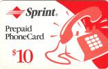 USA - Sprint Magnetic Prepaid Card $10, Used - United States