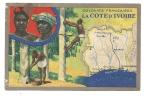 Côte D´Ivoire : 3 Vues Dont Carte Géographique Et Culture De L´Hévéa En 1930 (animée). - Côte-d'Ivoire