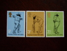 GB 1973 COUNTY CRICKET 1873-1973 Issue 16th.May  MNH Full Set Three Stamps To 9p. - 1952-.... (Elizabeth II)
