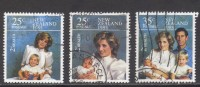 NZ ~ Health ~ Royal Family Portraits ~ SG 1372-1374 ~ 1985 ~ Used - Unclassified