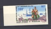 Saint Pierre Et Miquelon  -  Avion  -   1966  :  Yv  36a  **   Non Dentelé - Non Dentelés, épreuves & Variétés