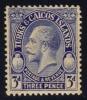 Turks & Caicos #65 King George V, Unused (0.95) - Turks And Caicos