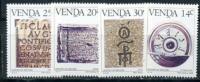 Venda, History Of Writing, 1986, 4 V - Timbres