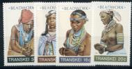 Transkei, Headdresses, 1987, 4 V - Costumes