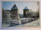 Tallinn Virgin's Tower And Kiek In De Kok In The Snow Estonia Postcard - Estonia