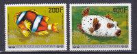 COMORES AERIENS N° 128 à 129 Neufs **  Sans Charnière, Cote: 10.40 €, Poissons - Comores (1975-...)