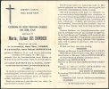 ETIKHOVE   WORTEGEM   MARIA ZULMA DE DONDER  20.04.1874 - 2.05.1951 - Images Religieuses