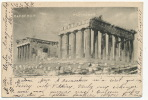 Athenes Parthenon Entier Postal 1901 Adressé Marquise De Fressemanes  A Simiane - Griechenland