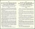 INGOOIGEM  BELLEGEM  CLOTILDE DERMAUT  2.09.1873 - 24.09.1953 - Images Religieuses