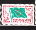 Upper Volta Republic 1962 African Malgache Union Issue Flag MNH - Timbres