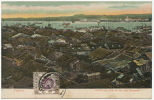 Canton Bird's Eye View Of City And Honamam Stamp Hongkong But Not Postally Used - Chine