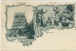 Ceylon Pioneer Multi View Nauch Girls Dancers Hindu Temple  Platé No 26 Undivided Back - Sri Lanka (Ceylon)