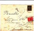 """LAC De BRUXELLES 20 JANV.1843(avec TRAIT Soulignant Le Mois-NON SIGNALE)+""""PP""""enc-man.""""port Payé""""v.NIVELLES.TB - 1830-1849 (Belgique Indépendante)"""