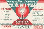 BU 784 / BUVARD  LAMPE  ZENITH - Electricité & Gaz