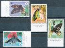 PAPUA NEW GUINEA 1988 WWF BUTTERFLIES A HOT SET VF MNH SC$ 697-700 SCARCE VF MNH - Papua New Guinea