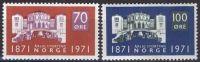 NORWEGEN 1971 MI-NR. 621/22 ** MNH - Norwegen