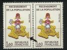 """FR Variétés YT 2202 Paire """" Recensement De La Population """" Ss Le 7  Sur Corse. - Errors & Oddities"""