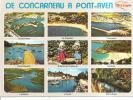 De CONCARNEAU à PONT AVEN-Multivues:concarneau;le Cabellou;trévignon;port Manech;kerfany,le Belon,l'aven,pont Aven Costu - France