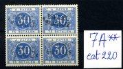 Taxe 7A**  30c Bleu     Beau Carré  Griffe Brussel Bruxelles   PARFAIT  Cote 2016 =  232 E - Stamps