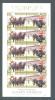 GIBRALTAR  -  1997  Golden Wedding   £1.20p X 5 + £1.40 X 5  Sheetlet  UM - Gibraltar