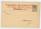 Meissen, Überdruck Briefbeförderung, Hammonia Briefkarte (104) - Privatpost