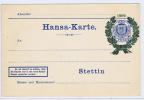 Stettin Hansa-Karte 1900 Privat-Stadt-post Karte,  (135) - Privatpost