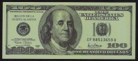 Test/training Note 100 Dollars SPAIN, School Money, Type F 2, Beids. Druck, RRR, UNC, W/ Serial Number! New - Espagne
