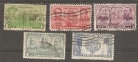 USA. Scott # 790-94 Used. Navy Issue 1936-37 - Oblitérés
