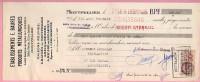 Lettre De Change Ets E. Baurès Montpellier 31-07-1936 - Fiscal 30c - Métallurgie - Agence Becq Béziers Ricard Bédarieux - Bills Of Exchange