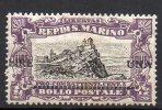 1924 San Marino Pro Combattenti Sovrast. N 105  Nuovo MLH* Sassone 38 € - Ongebruikt
