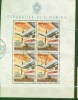 1965 San Marino Foglietto Aerei Moderni N.26 Timbrato Used Sassone 25 Euro; - Blokken & Velletjes