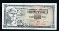 1000 Dinara. Yugoslavia. From 1981. Used Banknote... - Yougoslavie