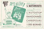 BU 873 /  BUVARD    CODE DE LA ROUTE   JEUX - Buvards, Protège-cahiers Illustrés